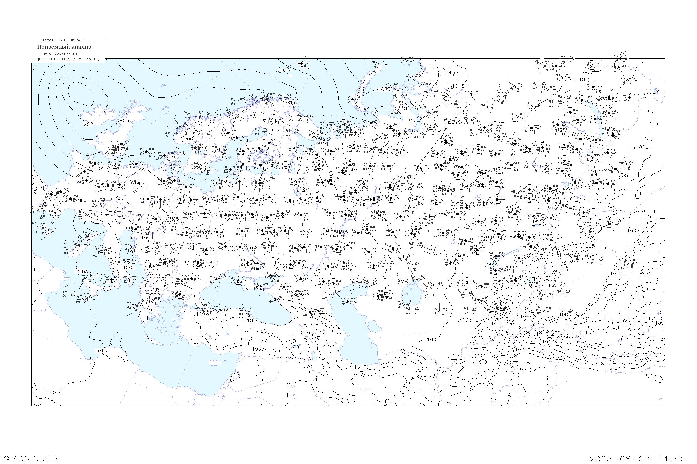 приземный анализ, кольцевая карта погоды