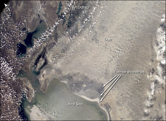 Аральское море: солевая буря